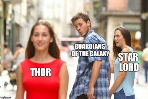 How the Guardians reacted to the introduction of Thor.