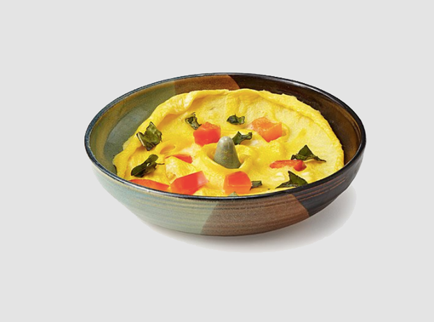 Or, if you'd rather treat yourself to a healthy omelet after work, this microwavable stoneware clay dish makes a killer one in under 45 (!) seconds.