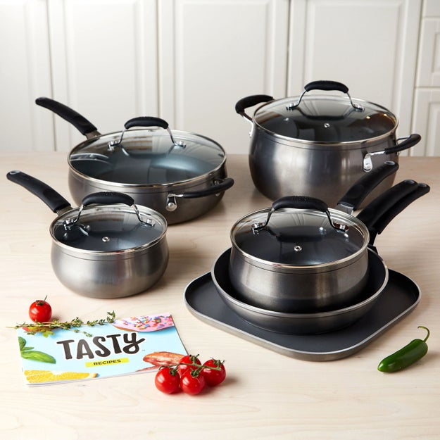 A nonstick cookware set, like Tasty's for Walmart, that offers great heat distribution, for even — and more importantly, fast —   cooking.