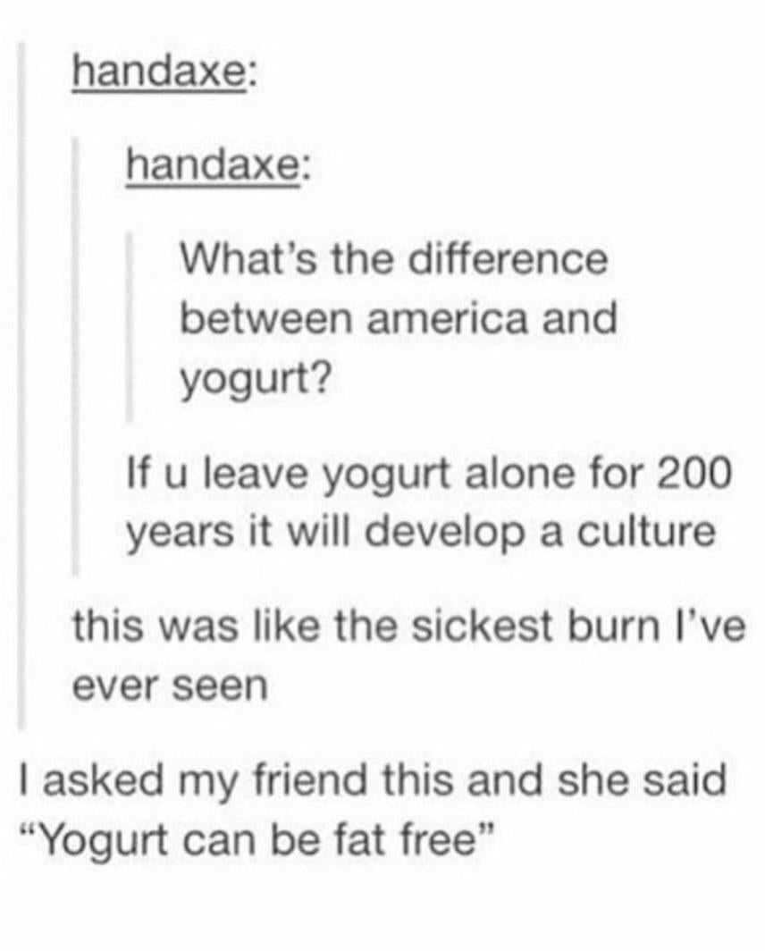 On American culture: