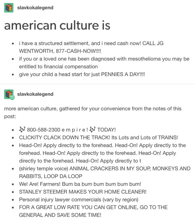 More on American culture: