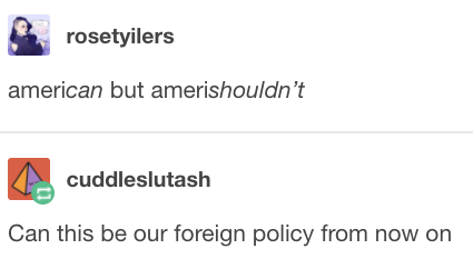 On foreign policy: