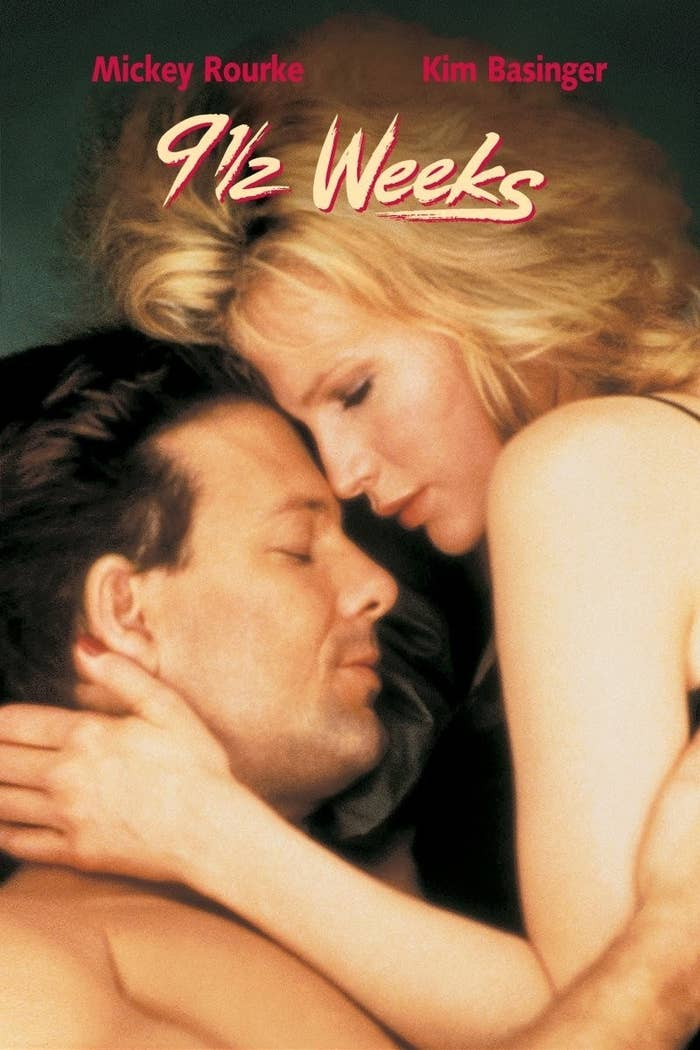 This is the flick that cemented Kim Basinger's status as a sex symbol in the 80s,  and it's got it all — stair sex, sex games, blindfolding, and plenty of passionate kissing.