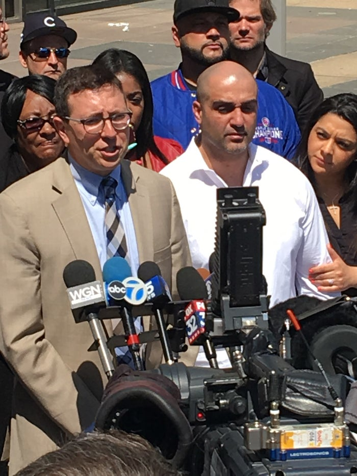Robert Bouto and his attorney outside court Monday