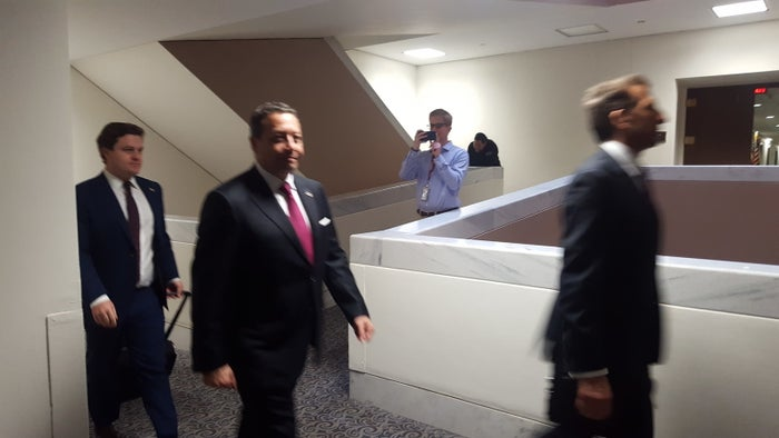 Felix Sater heads into an interview with the Senate Intelligence Committee.