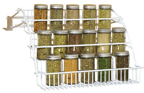 A pull-down rack to keep your favorite spices and flavors at arm's reach in even the most convoluted kitchen space.