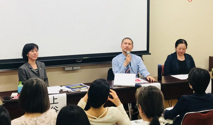 左から、弁護士の上谷さくらさん、加害者臨床の斉藤章佳さん、被害者支援の齋藤梓さん