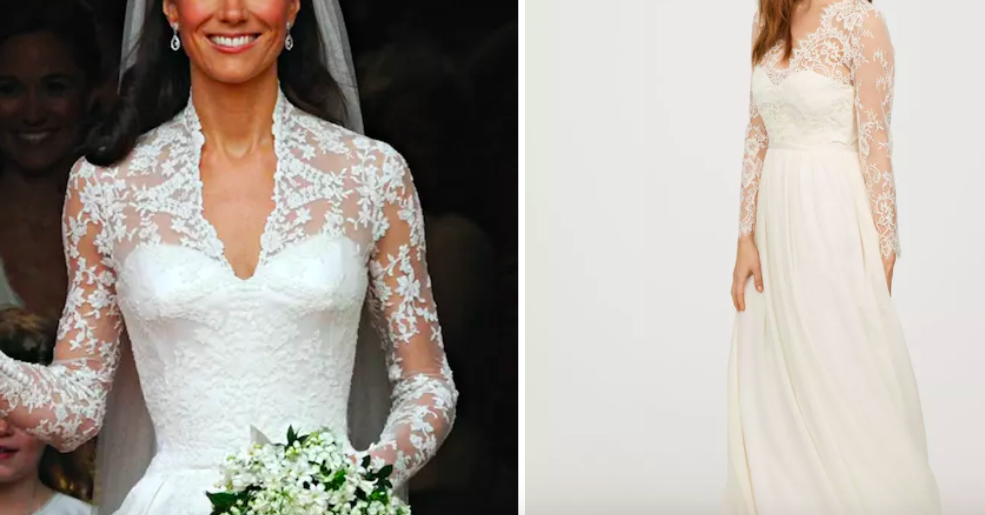 H&M Has A $299 Knockoff Of Kate Middleton's Wedding Dress