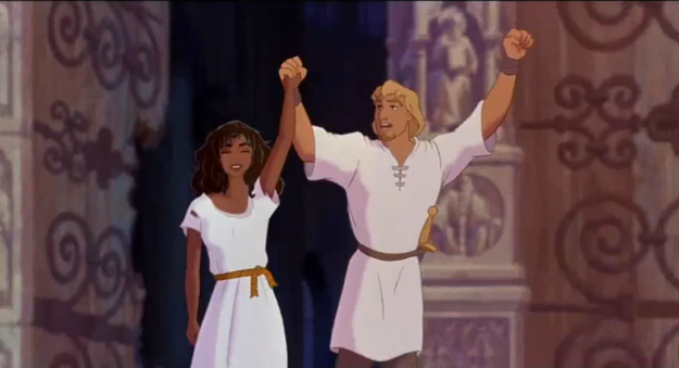 Phoebus and Esmeralda's outfits were typical of those claiming sanctuary in medieval Europe.