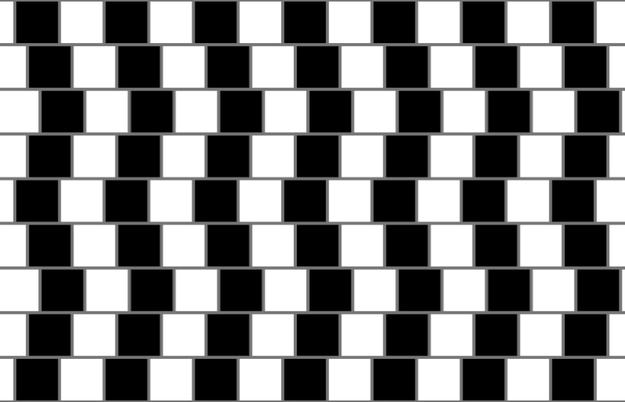 "And others have compared it to the infamous ""Café wall illusion."""