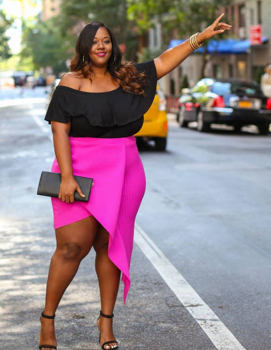 7d7c386d4bf00c Check out more from Trendy Curvy for how to master angled outfits!Get a  similar