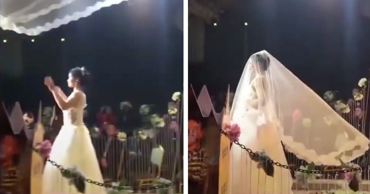 People Think The Latest Chinese Wedding Trend Involving Flying Veils