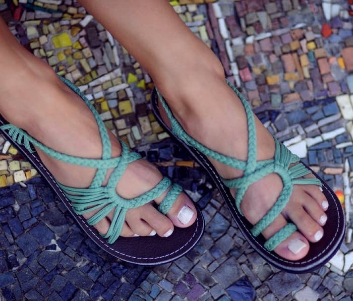 d4c6bbbf2620 Water-resistant braided sandals that are equally great for the beach as  they are for staying stylish during April showers.