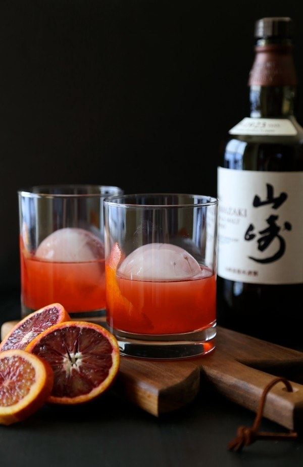 Blood Orange Whiskey Negroni