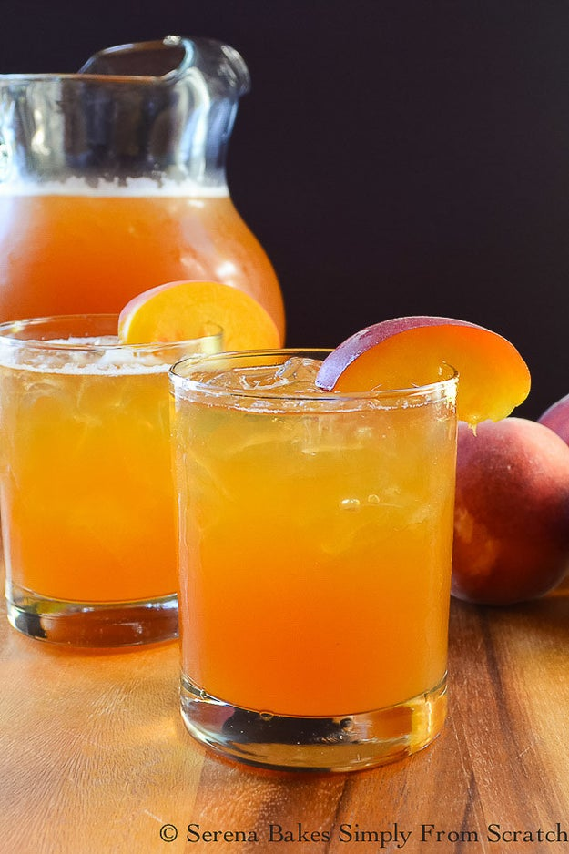 Peach Whiskey Iced Tea