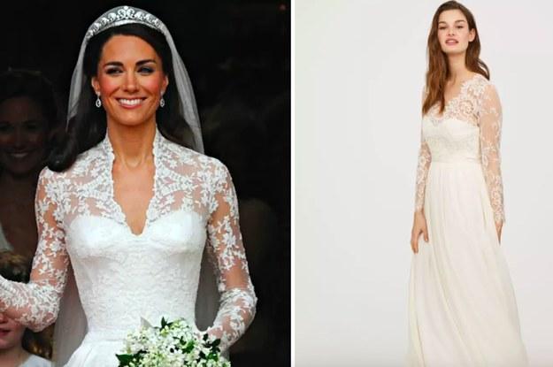 Hu0026M Has A $299 Knockoff Of Kate Middletonu0027s Wedding Dress, And Itu0027s  Beautiful