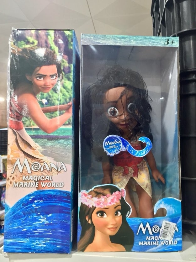 Anyways, because a large part of my time on the internet is spent looking at Disney things — I came across this Moana doll and I'M LOSING MY DAMN MIND: