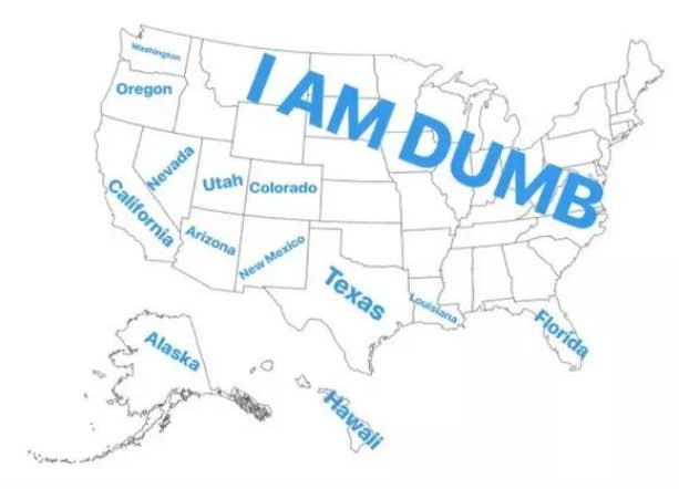 People From Around The World Tried Labeling All 50 States From - Map Of Us State Capitals