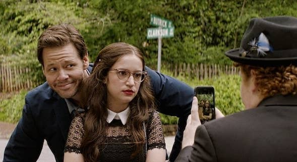 Ike Barinholtz as Hunter, Adlon as Sam, and Bellinger as Chad in Blockers.