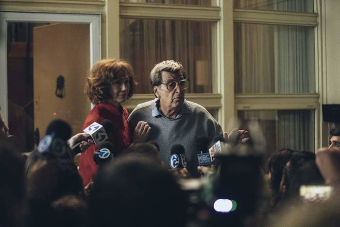 Kathy Baker as Sue Paterno, left.