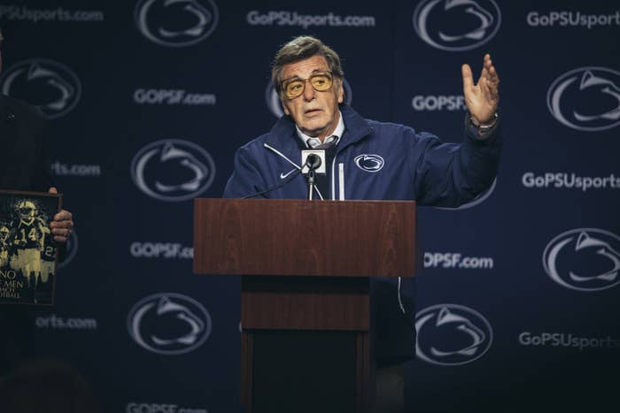 Al Pacino as Joe Paterno.