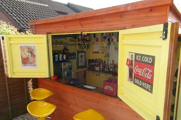 Man Cave Ideas For A Small Shed : Is how to make your shed into own private bar