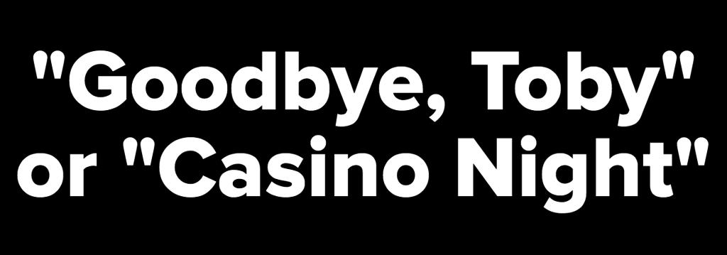 Casino night the office toby