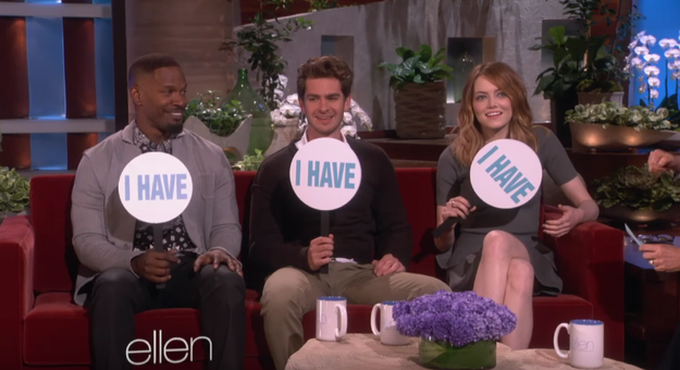 So have Emma Stone, Jamie Foxx, and Andrew Garfield.