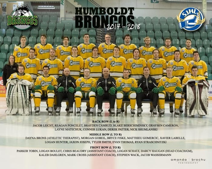 Sixteen people were killed after a bus carrying members of a junior ice hockey team crashed in the Canadian province of Saskatchewan Friday night.The Humboldt Broncos were on their way to a game against the Nipawin Hawks when their bus collided with a tractor-trailer at around 5 p.m., 30 kilometers or some 18 miles north of Tisdale.The Royal Canadian Mounted Police said that 15 of the 29 people on the bus had died in the accident, including the driver. The other 14 passengers have been hospitalized.On Wednesday, the family of Dayna Brons, an athletic therapist for the Broncos, confirmed in a statement that the 25-year-old had died after being injured in the crash, raising the death toll to 16.Police, family, and friends have been confirming the names of those who died in the accident.Here's what we know so far about those who were killed in the crash.