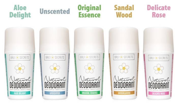 all five deodorant scents