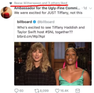 When Reese Witherspoon liked this shady tweet about Taylor Swift: