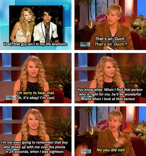When baby Taylor Swift shaded the fuck out of Joe Jonas on Ellen: