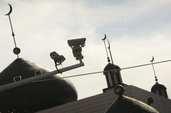Security cameras in Ürümqi, the capital of Xinjiang.
