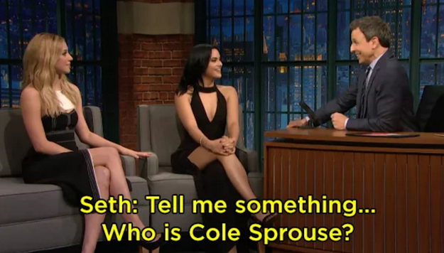 "When Seth Meyers ""I don't know her""-ed Cole Sprouse:"