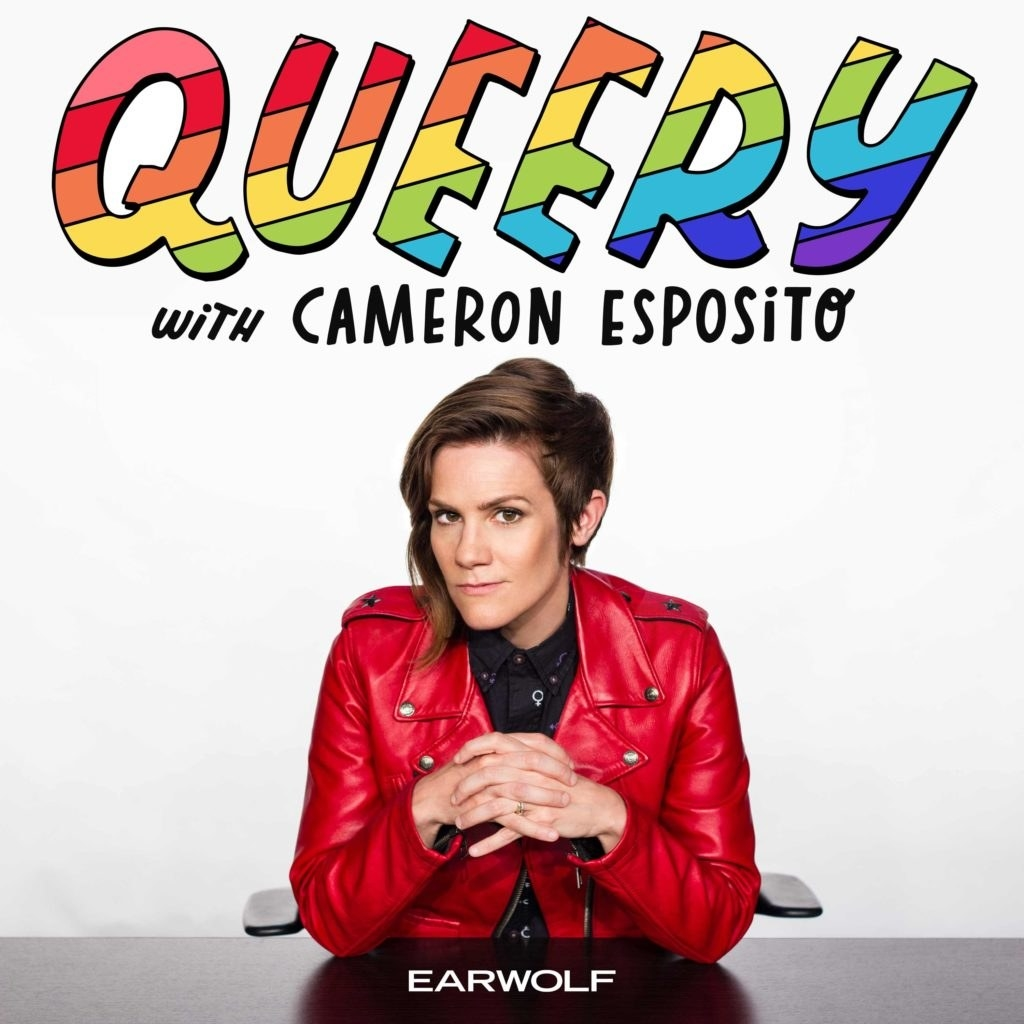 """Cameron Esposito's  Queery  -  """" Queery!  Hosted by Cameron Esposito. Cameron is hilarious and she interviews other important queer people. It's a must.""""  — kaitlyndv Listen to the podcast here."""