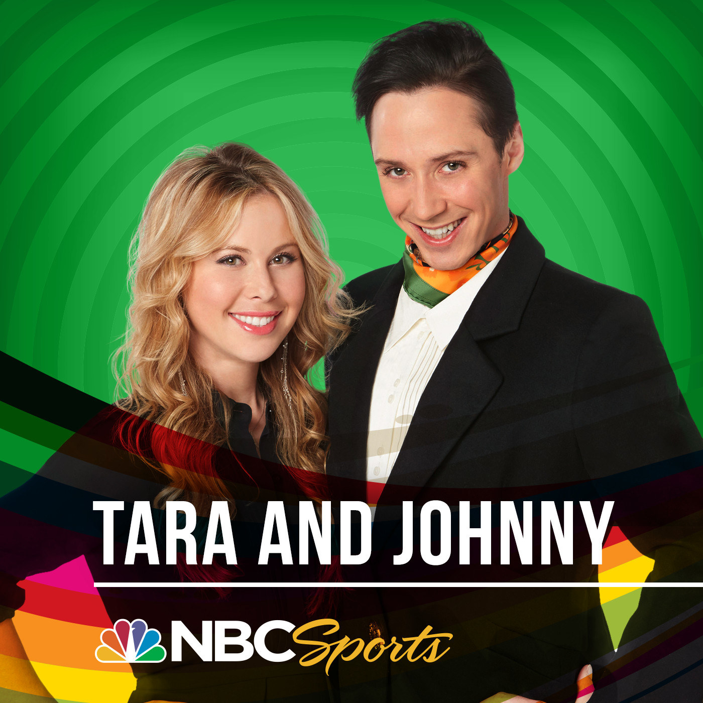 """Tara and Johnny  -  """"Tara Lipinski and Johnny Weir have a fantastic 'sports podcast,' they talk about skating a little but mostly about what's going on in their lives and it's always a bright spot in my week! If you love watching them at the Olympics you'll love their podcast!""""  — jennyw40a15bbb5 Listen to the show here."""