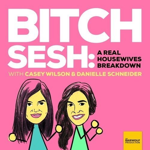 """Casey Wilson and Danielle Schneider's  Bitch Sesh  -  """" Bitch Sesh  with Casey Wilson and Danielle Schneider. It's ostensibly a breakdown of Bravo Housewives programming, but really it's a beacon to all garbage people who just want to drink rose and not take it on.""""  — allisonm4cdc18e23 Listen to the podcast here."""