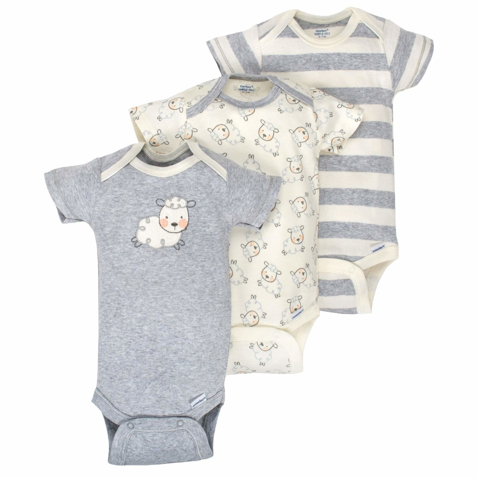 0e0f91310 A set of little lamb onesies, coordinating leggings, and matching hats  that'll remind the new parents of you every time they pull it out of the  closet.
