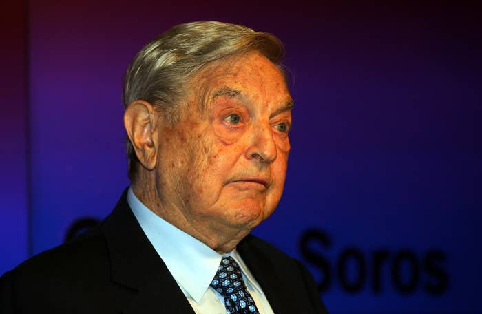 George Soros addresses the Social Impact Investment Forum in London.