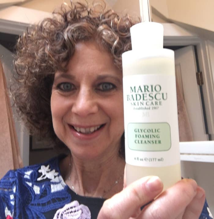 """I like to think of myself as still being 27, but one glance in the mirror at tired-looking skin can be a quick reality check!! Thank goodness for Mario Badescu skincare products. Two of my favorites were a gift from my beautiful (and brilliant!) daughter, who knows a thing or two about smart skincare. I use the Glycolic Foaming Cleanser every night and it is one of the most gentle AND effective cleansers I've tried. It only takes a small amount to create a big lather, which means the 6 oz. bottle lasts a LONG time. I literally can feel the grime and stress from the day wash away. I also use this when I wake up to start the day feeling fresh and energized.I'm also a big fan of the Facial Spray with Aloe, Herbs, and Rosewater. This is a light and non-oily spray that you can quickly spritz throughout the day to keep your skin hydrated. Just a little bit revives dry skin and keeps makeup looking like it just went on. Don't leave home without it!And the best part — not only do both products work exceptionally well, they're cruelty-free, easy to use, and excellent for sensitive skin."" —Judi McAnaw (mom of BuzzFeed writer Emma McAnaw)Get the Glycolic Foaming Cleanser for $16 and the Facial Spray with Aloe Herbs and Rosewater for $10.20 from Amazon or find them from Jet for $16 and $7."