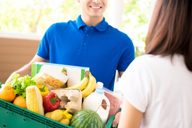 Check to see if your grocery store has a grocery app. Some apps will load coupons automatically, and curbside pickup can be a big money saver.