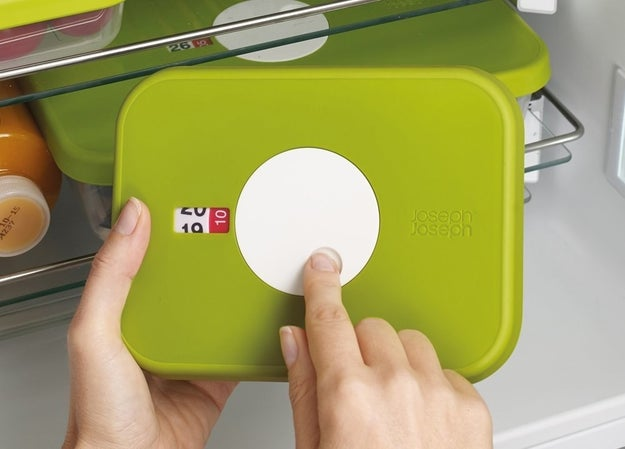 A food container with a datable lid, so you don't have to waste time guessing whether your leftovers are still good (and figuring it out the hard way).