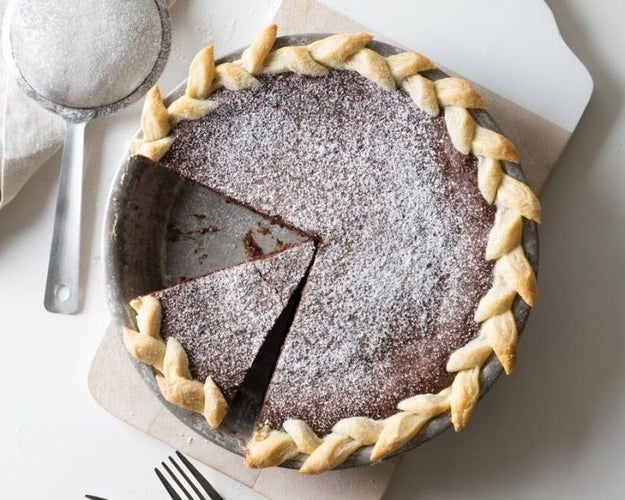 Mexican Chocolate Fudge Pie