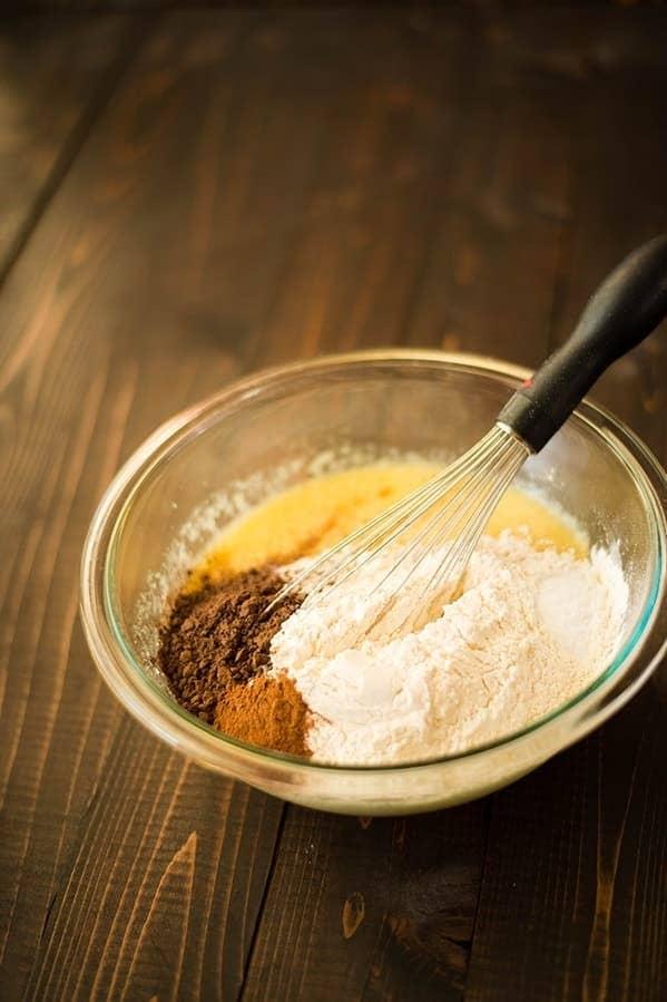 Pan de calabacín y chocolate
