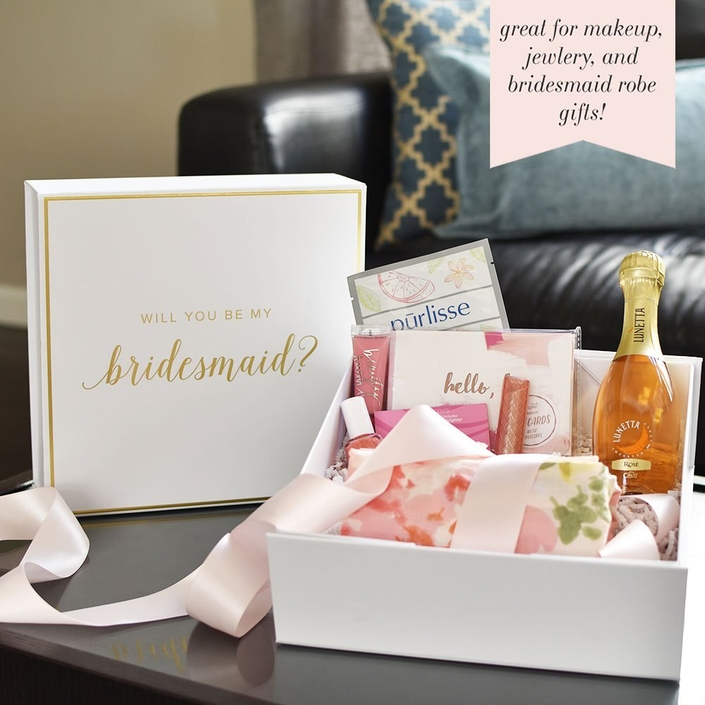 And a fancy box to put all your tiny gifts in. & 33 Bridesmaid Gifts That People Will Actually Want