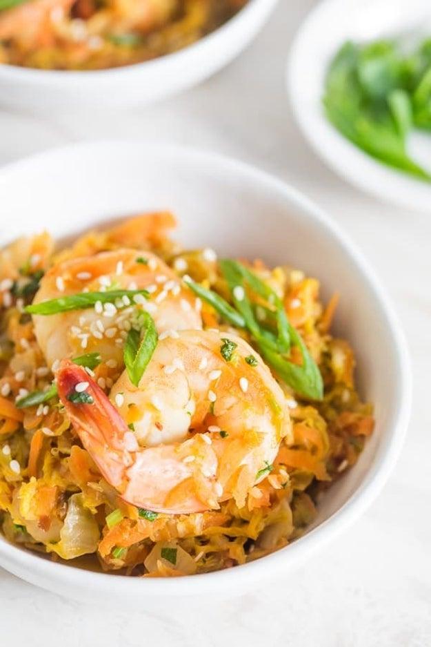 Spicy Shrimp Egg Roll Skillet