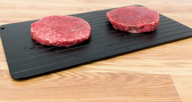 A speedy defrosting tray, for anyone who loves a good meat dinner but hates the process of waiting around for it to thaw.