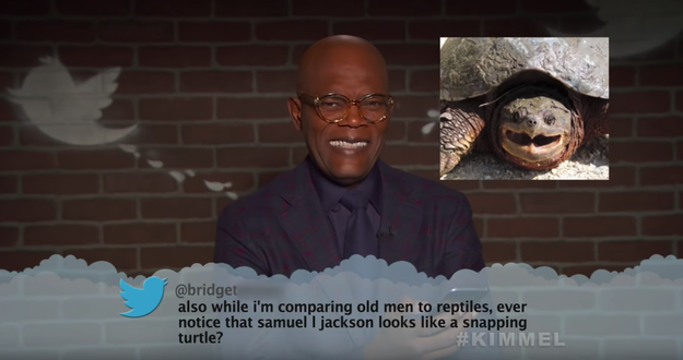 Here's Samuel L Jackson, aka Nick Fury, who really does look like a snapping turtle now I'm seeing it side by side.