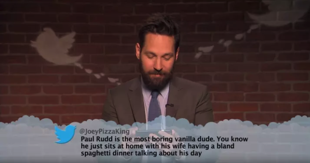 As I'm sure you already know, Mean Tweets is a segment of Jimmy Kimmel's talk show where he gets his celebrity guests to read out mean tweets about themselves.