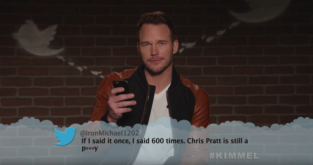 Here's Chris Pratt, aka Star-Lord, saying it for the 601st time.